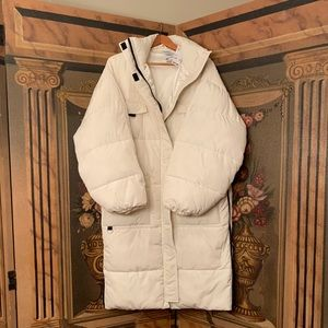 Urban Outfitter Puffy White Coat